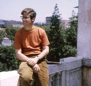 On Palatine hill. Yes, young once--could probably have used a hair stylist.