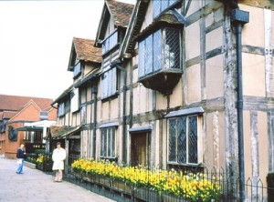 Shakespeare's house with me in front.