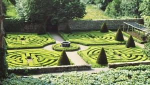 Boxwood garden at the Chateau de Montal