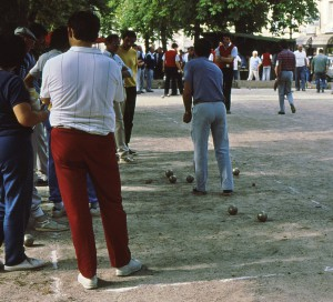 Boules in Saint-Savin near the Loire Valley