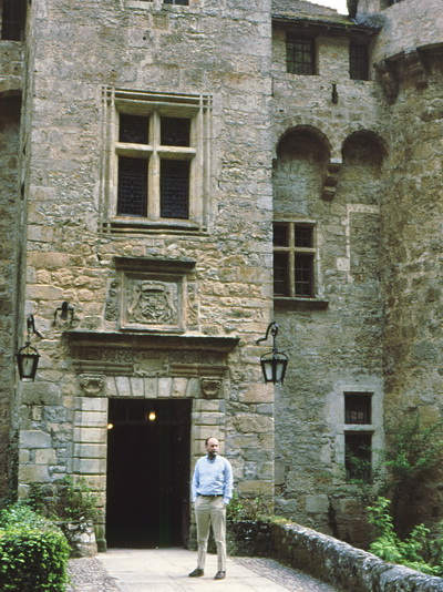 At the entrance to one of our favorite places in France, the Chateau de la Caze on the Lot